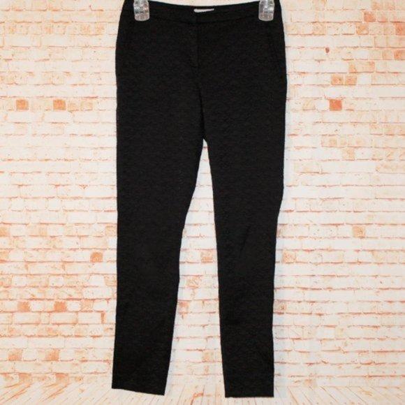 H&M Black Pattern Casual Pants Size 6